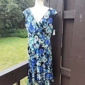 NWT connected apparel flowered dress and shrug